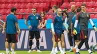 گزارش تصویری آخرین تمرین اسپانیا قبل از بازی برابر ایران